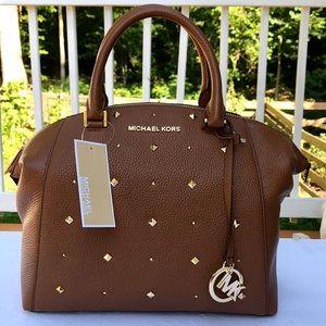Michael kors Medium Riley studded satchel handbag